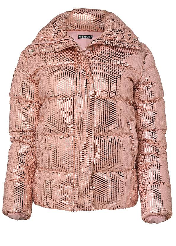 Ghost with background  view Sequin Puffer Jacket