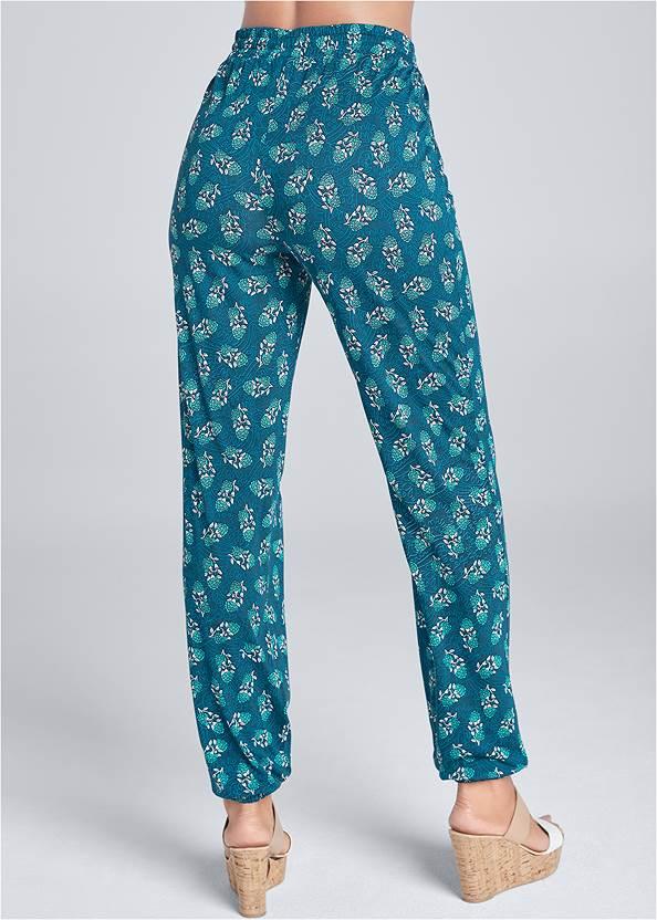Back View Printed Jogger Pants