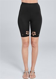 Front View Laser Cut Bike Shorts
