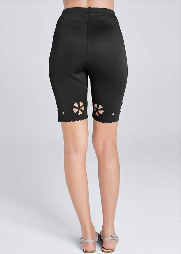 Back View Laser Cut Bike Shorts
