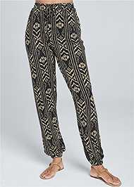 Front View Printed Jogger Pants
