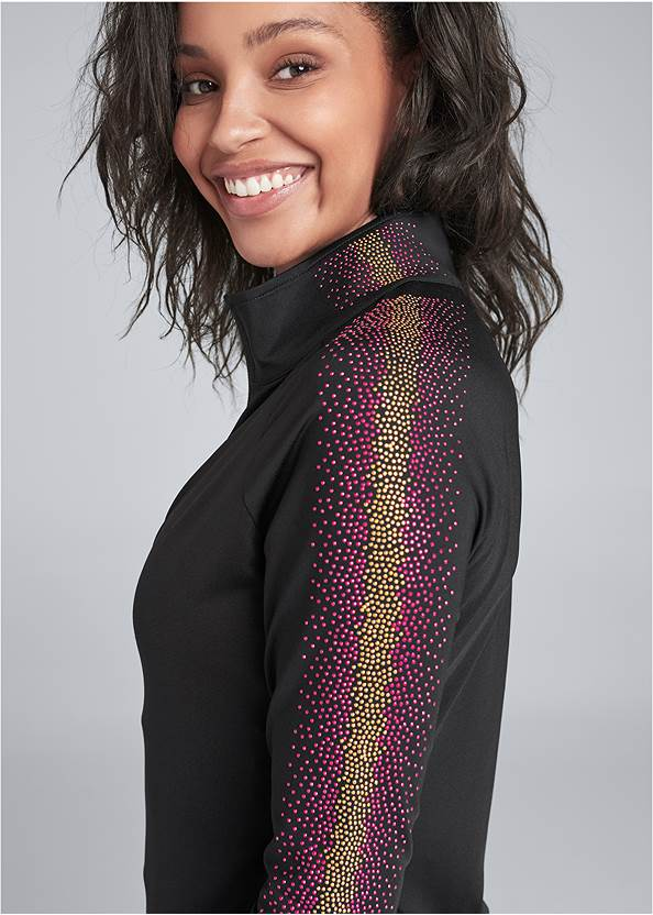 Alternate View Embellished Stripe Jacket