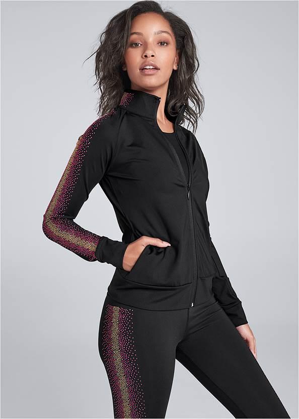 Embellished Stripe Jacket,Embellished Stripe Set,Wirefree Comfort Bra