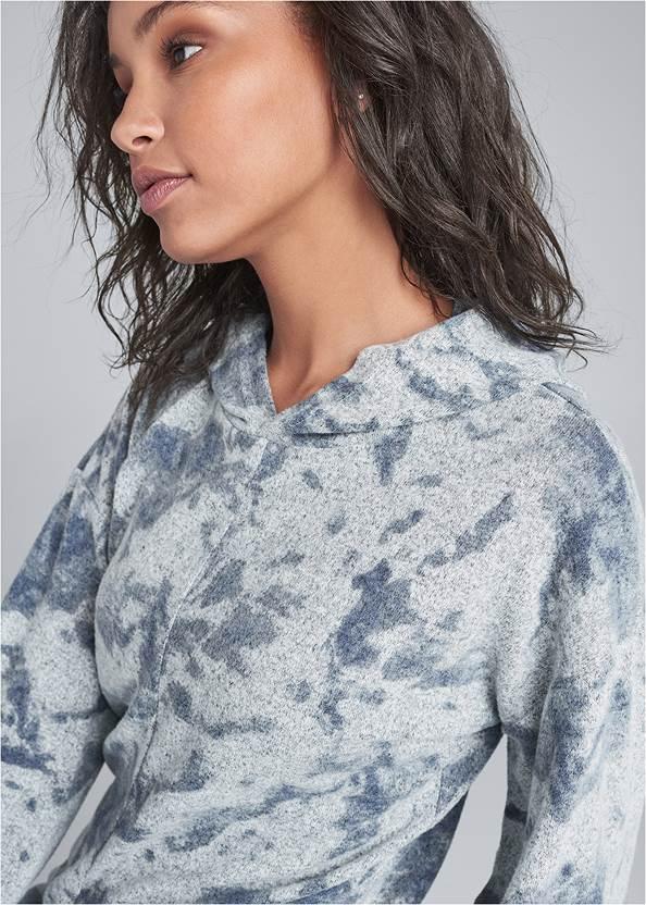 Alternate View Cozy Knot Detail Hacci Sweatshirt