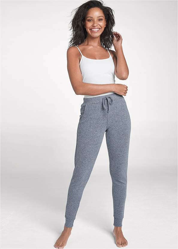 Cozy Lounge Hacci Joggers,Basic Cami Two Pack,Cozy Knot Detail Hacci Sweatshirt