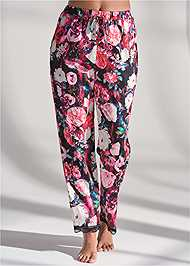 Waist down front view Satin Sleep Joggers