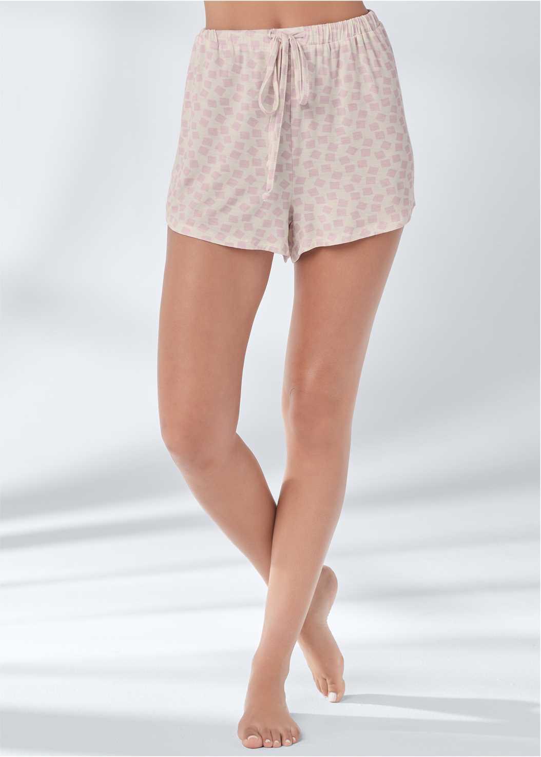 Sleep Shorts,Long Sleeve Sleep Shirt