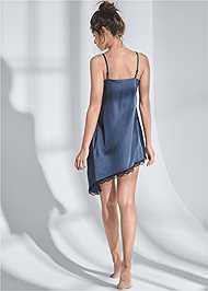 Full back view Satin Sleep Dress