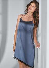 Cropped front view Satin Sleep Dress