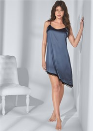 Full front view Satin Sleep Dress