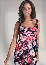 Cropped front view Satin Sleep Tank