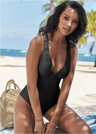 Cropped front view Strappy Back One-Piece