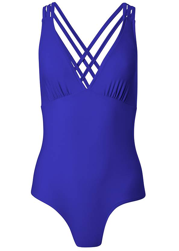 Ghost with background  view Strappy Back One-Piece
