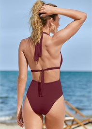 Cropped back view Jet Setter One-Piece