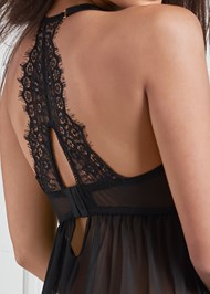 Detail back view Lace And Mesh Babydoll