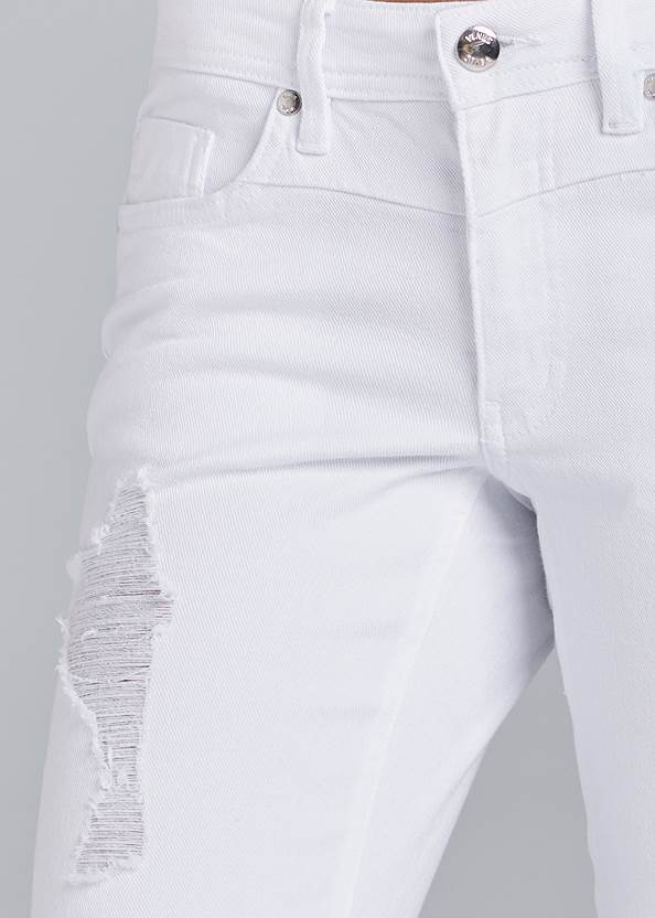 Alternate View Ripped Cropped Jeans