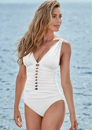 Cropped front view Girlboss One-Piece