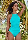 Full front view Strappy Back Tankini Top