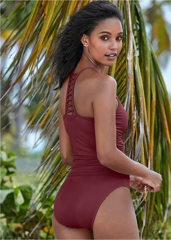 Strappy Back Tankini Top,Mid Rise Hipster Classic Bikini Bottom,Full Coverage Mid Rise Hipster Bikini Bottom,Swim Short,Mid Rise Scuba Knit Bottom,Scuba Knit High Leg Bottoms,Crochet Detail Cover-Up,Embroidered Kaftan Cover-Up,Rhinestone Flip Flop Sandal