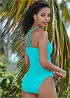 Full back view Strappy Back Tankini Top