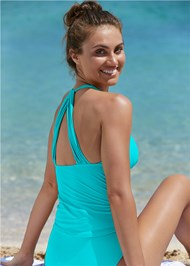 Front View Smoothing V-Back Tankini