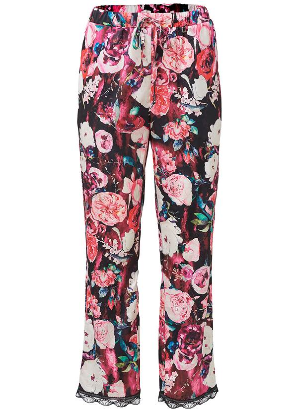 Ghost with background  view Satin Sleep Joggers