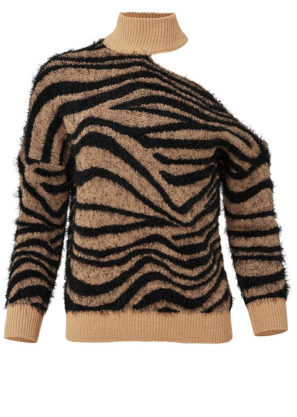 Ghost with background  view Tiger Print Turtleneck