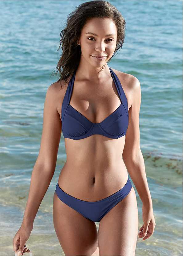 Jillian Underwire Top,Scoop Front Classic Bikini Bottom ,Mid Rise Hipster Classic Bikini Bottom