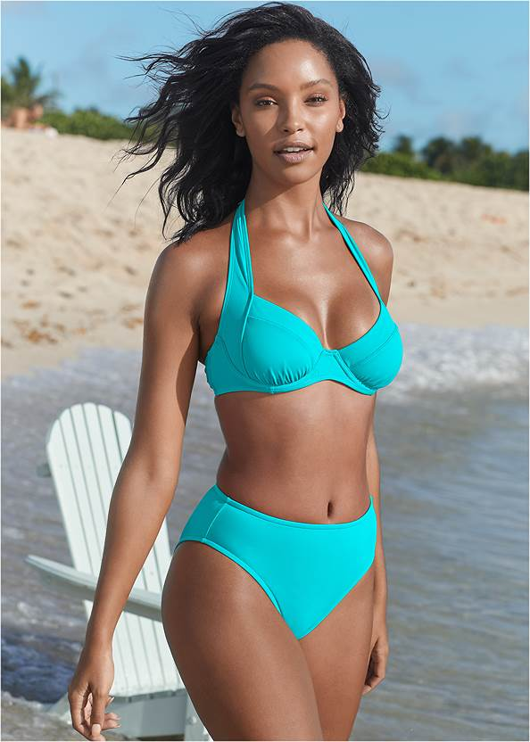 Jillian Underwire Top,Mid Rise Hipster Classic Bikini Bottom,Scoop Front Classic Bikini Bottom