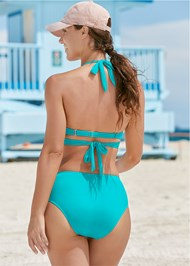 Full back view Underwire Wrap Top
