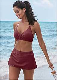 Full front view Underwire Wrap Top