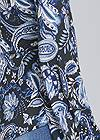 Detail back view Paisley Balloon Sleeve Top
