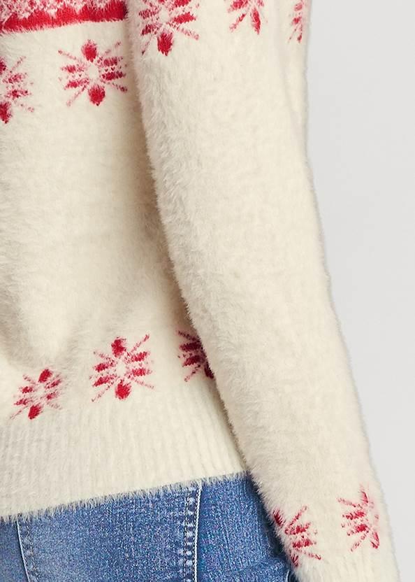 Detail back view Snowflake Eyelash Sweater