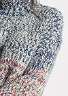 Detail front view Marled Knit Turtleneck