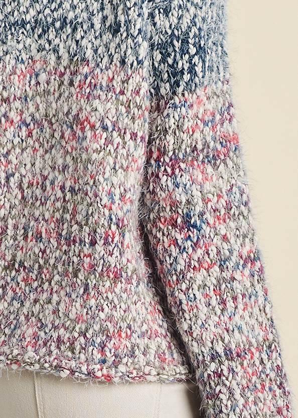 Detail back view Marled Knit Turtleneck