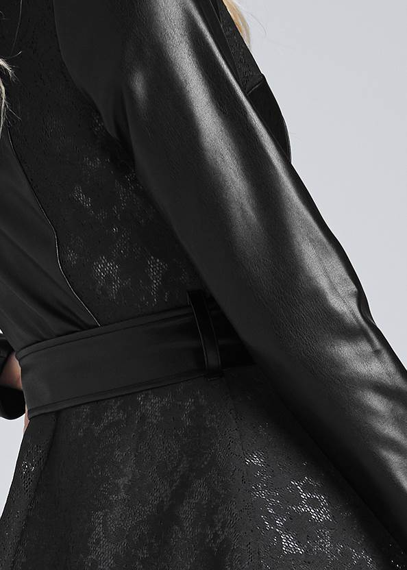 Detail back view Lace Detail Trench Coat
