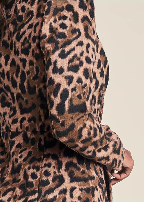 Back View Long Leopard Print Coat