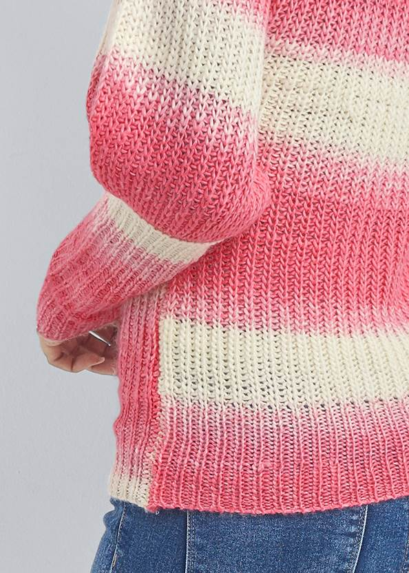 Detail back view Ombre Striped Sweater