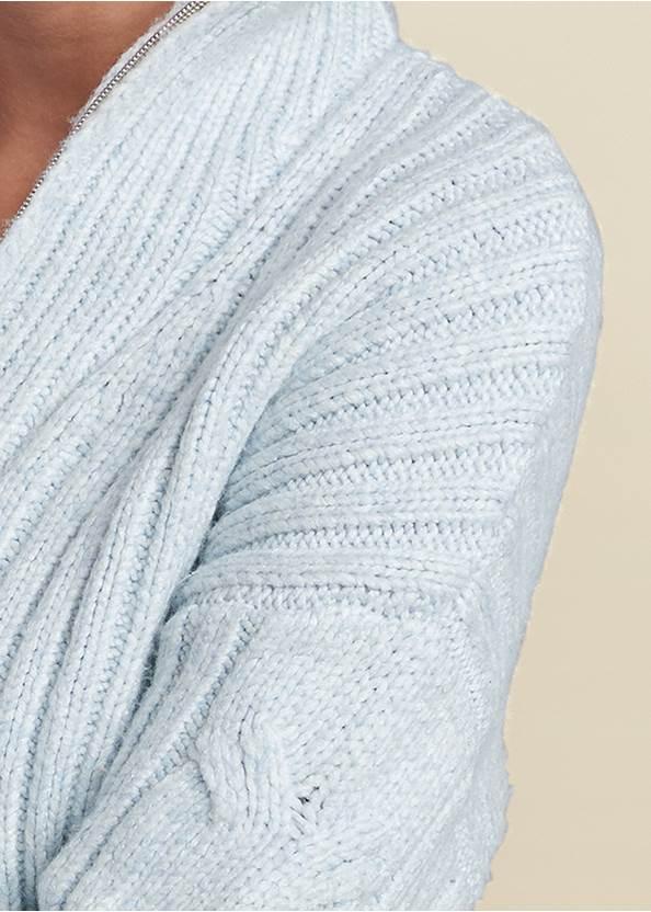Detail front view Half Zip Sweater