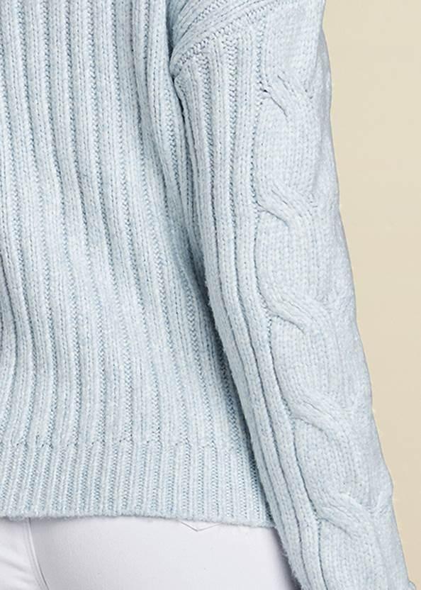 Detail back view Half Zip Sweater