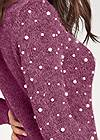 Detail back view Pearl Detail Sweater