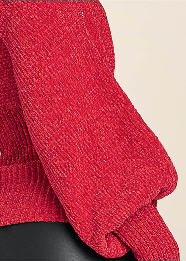 Alternate View Crisscross Front Cold Shoulder Sweater