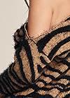 Detail back view Tiger Print Turtleneck