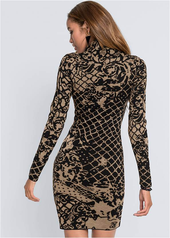 Full back view Bodycon Sweater Dress