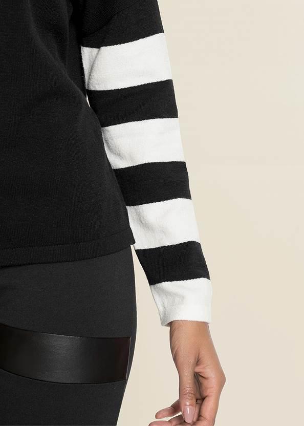Alternate View Stripe Sleeve Sweater