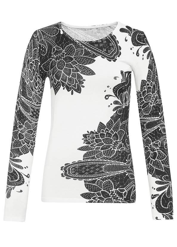 Alternate View Petal Print Sweater
