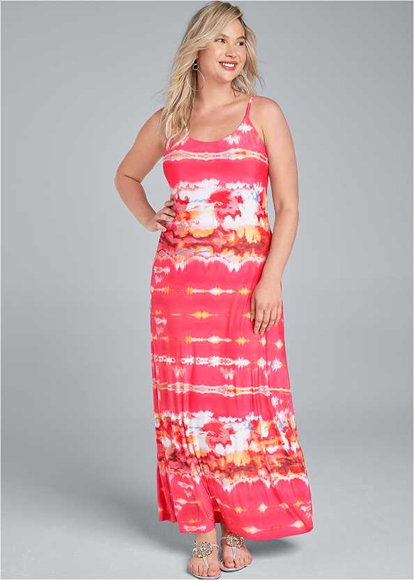 Batik Printed Maxi Dress