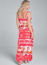Back View Batik Printed Maxi Dress