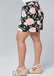 Alternate View Floral High Waisted Shorts