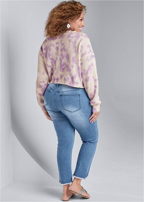Back View Oversized Tie Dye Sweater
